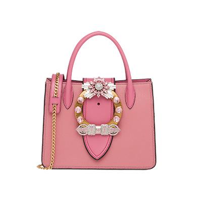 ... Miu Lady Madras Leather Bag MiuMiu PINK 1 ... 122d752177601
