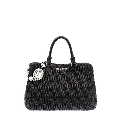 Leather Miu Miu Iconic Crystal Bag