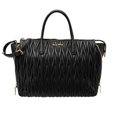 ... Leather Miu Miu Avenue Travel Bag MiuMiu BLACK ... 414575a1125ee