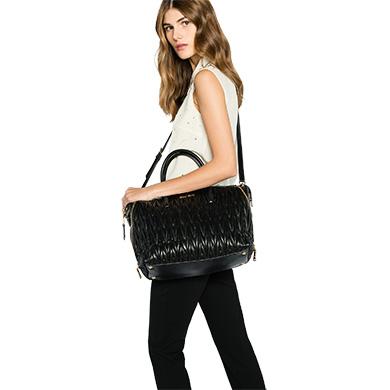 ... Leather Miu Miu Avenue Travel Bag MiuMiu BLACK ... 572c1654a073b