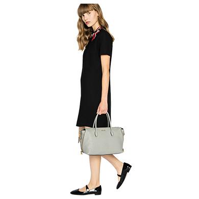 Shop Miu Miu Madras Leather Avenue Travel Bag In Cameo Beige Bruyere ... ffc2dc4b9e35e