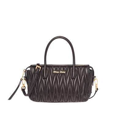 ec1bb4332142 ... Matelassé Leather Miu Miu Avenue Bag MiuMiu BLACK ...