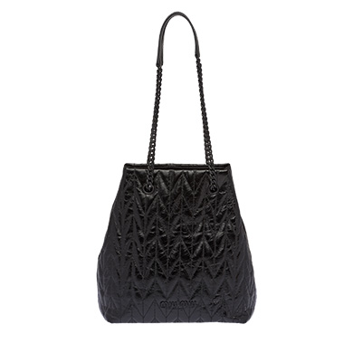 Quilted Shiny Leather Hobo Bag by Miu Miu