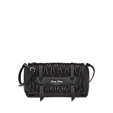 f65318c11f7e ... Matelassé leather shoulder bag MiuMiu BLACK ...