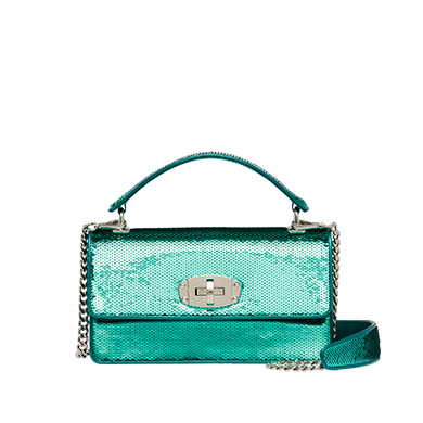Sequin shoulder bag MiuMiu TURQUOISE