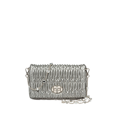 Miu Miu Miu Crystal Leather Bag In Chrome  733d8af4ea3f1