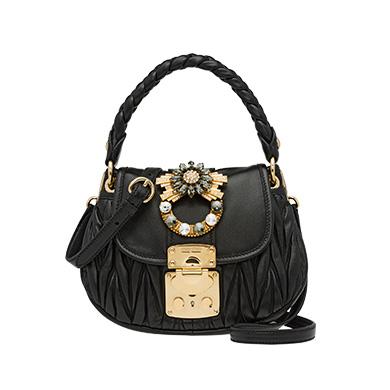 Miu Miu Miu Coffer Leather Bag In Black   ModeSens cb796204c5