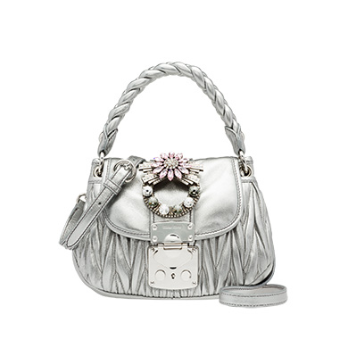 Leather Coffer Bag MiuMiu CHROME
