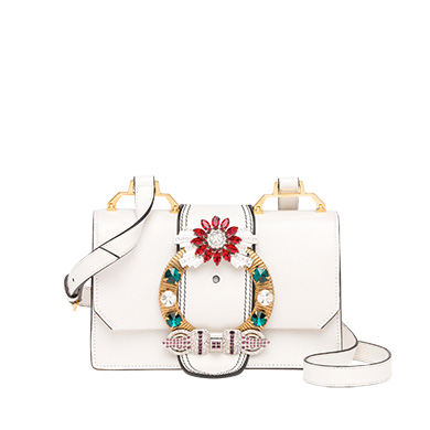 MADRAS LEATHER MIU LADY SHOULDER BAG