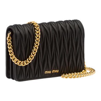 Leather Miu Délice Bag Miumiu Black