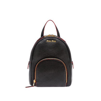 MADRAS LEATHER BACKPACK