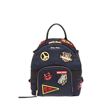 Miu Miu  Fabric Backpack with Patches
