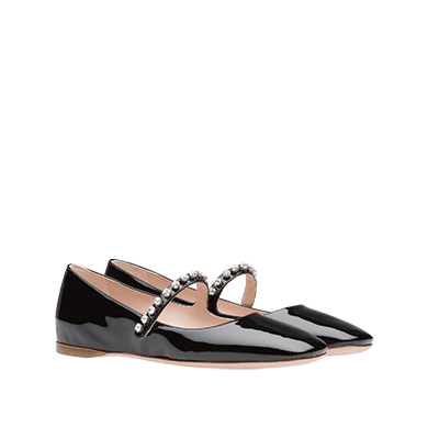 Patent leather Mary Jane ballerinas
