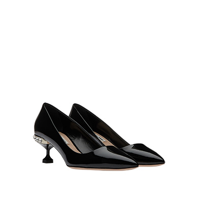 Miu Miu  Patent Leather Pumps with Jewels