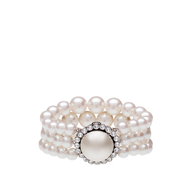 Miu Miu  Bracelet with Pearls and Crystals