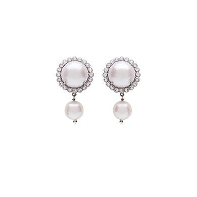 Miu Miu  Earrings with Pearls and Crystals
