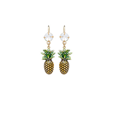 PINEAPPLE EARRINGS WITH CRYSTALS