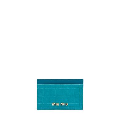 MIU MIU Madras goat leather credit card holder