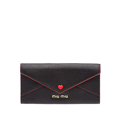 Madras Love Wallet in Black