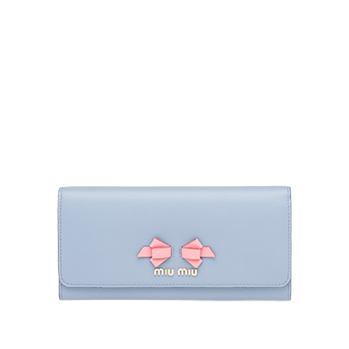 Miu Miu  Soft Calf Leather Wallet with Bow