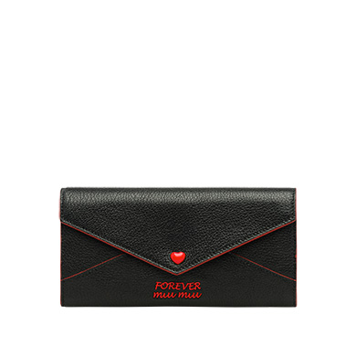 Madras Leather Wallet  in Black