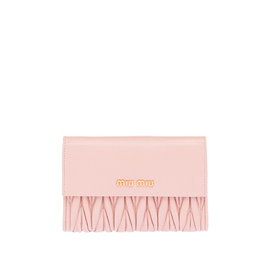 Quilted nappa-leather wallet