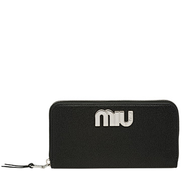 MIU MIU Madras goat leather wallet