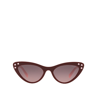1c5954085 Miu Miu Logo Sunglasses - Alternative Fit MiuMiu GRAY TO ALABASTER GRADIENT  ...