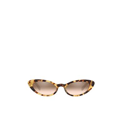 ff6d93525 ... Miu Miu Logo sunglasses MiuMiu DARK BROWN TO HAZELNUT GRADIENT MIRRORED  LENSES ...