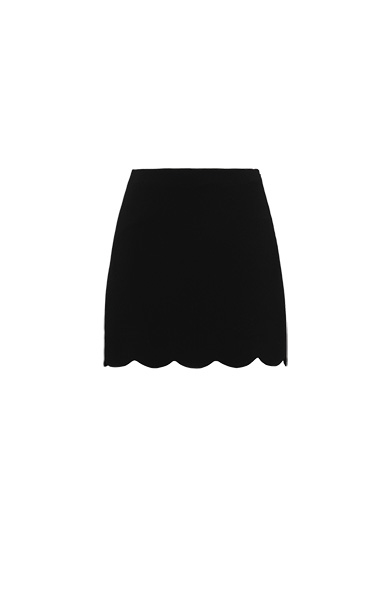 SCALLOPED MINI SKIRT