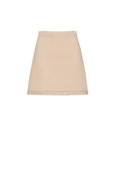 Natté crepe skirt