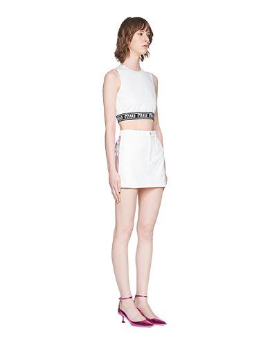 37d531439 Stretch denim miniskirt MiuMiu WHITE; Stretch denim miniskirt MiuMiu WHITE  ...