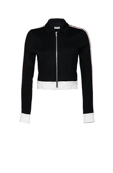 Miu Miu Cotton Fabric Sweatshirt