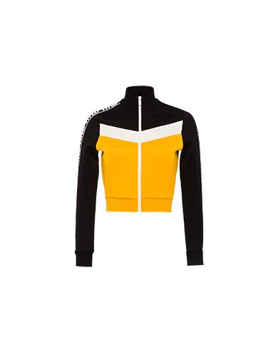Miu Miu Cotton fleece sweatshirt with inserts