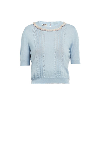 Cashmere and silk pullover