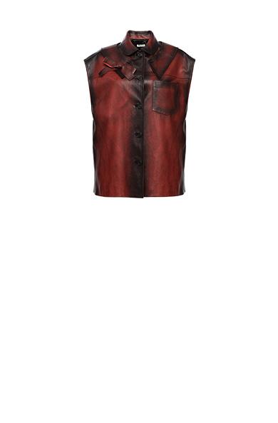 Nappa leather vest
