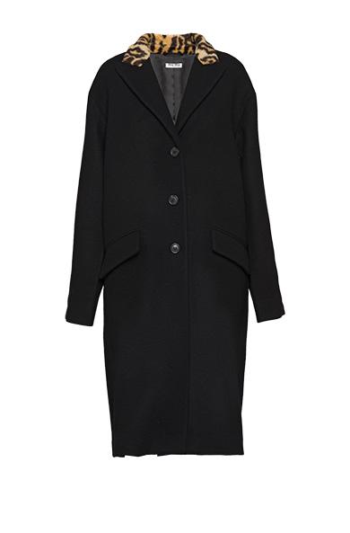 Knit wool coat