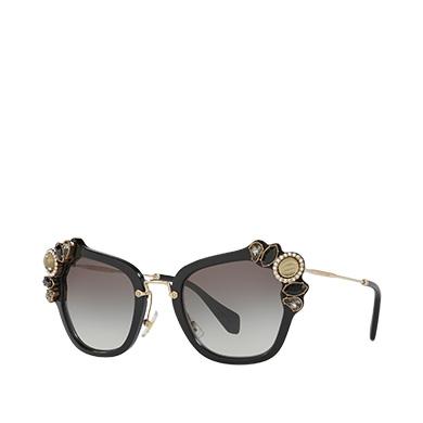 Miu Miu Fw '16 Runway Sunglasses, Gradient Anthracite Gray Lenses