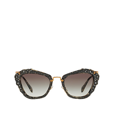 89638ce0188e Miu Miu Noir Eyewear with Glitter MiuMiu GRADIENT ANTHRACITE GRAY LENSES ...