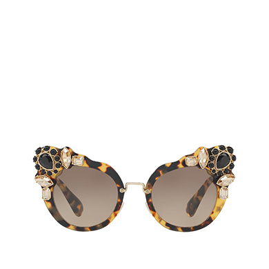 953474e6e9 Miu Miu Runway Eyewear with Crystals MiuMiu GRADIENT ANTHRACITE GRAY TO  CAMMEO BEIGE LENSES ...