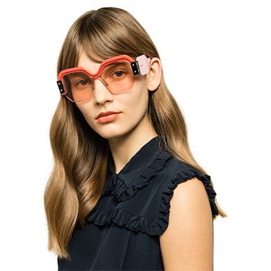 ... Single Lens Miu Miu Sorbet Eyewear MiuMiu PINK LENSES 39f258a13c