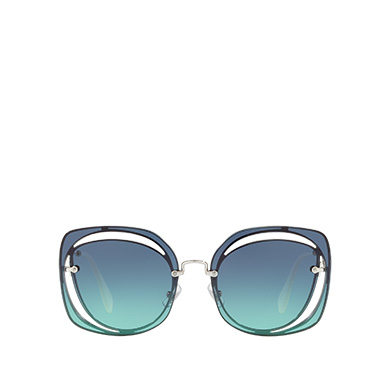 949127f1bcd3 Miu Miu Scénique cut-out eyewear MiuMiu BLUE TO TURQUOISE GRADIENT LENSES  ...