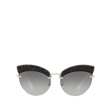 bc3cce47d90 Miu Miu Glitter Fabric Sunglasses In Gradient Gray Lenses