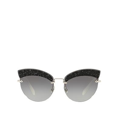 06414f44e3f Miu Miu Glitter Fabric Sunglasses In Gradient Gray Lenses