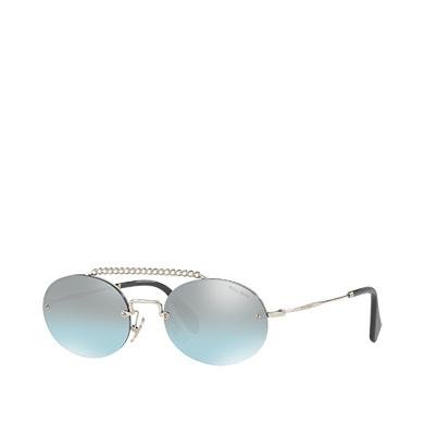 a793c72858baa ... Miu Miu Société Sunglasses with Crystals MiuMiu GRADIENT TURQUOISE TO CLAY  GRAY LENSES ...