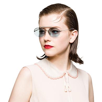 efe82fd3db4f5 ... Miu Miu Société Sunglasses with Crystals MiuMiu GRADIENT TURQUOISE TO CLAY  GRAY LENSES