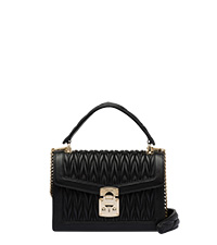 4453d82a107 Miu Confidential matelassé leather bag BLACK MiuMiu