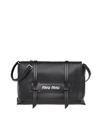 Grace Lux leather shoulder bag BLACK MiuMiu