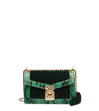 Miu Confidential Matelassé Velvet And Ayers Bag Emerald Mango Miumiu