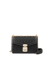 792d2c67f24 Miu Confidential matelassé leather bag BLACK MiuMiu